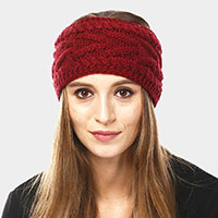 Solid Cable Knit Earmuff Headband