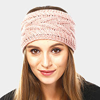 Solid Cable Knit Headband