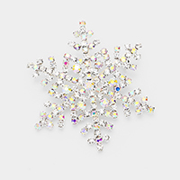Crystal Snowflake Pin Brooch