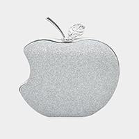 Glittered Mini Apple Crossbody Clutch Bag