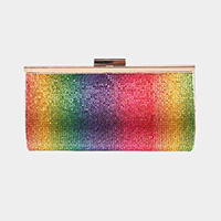 Shimmery Crystal Pave Evening Clutch Bag