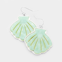 Celluloid Acetate Shell Dangle Earrings