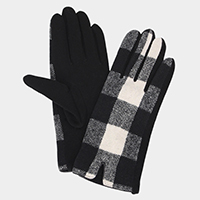 Buffalo Check Smart Touch Gloves