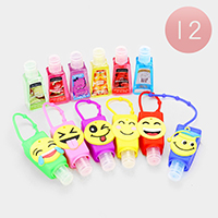 12PCS - Hand Sanitizer with Emoji Silicone Holders