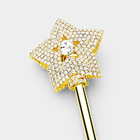 Crystal Pave Star Scepter