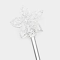 Crystal Rhinestone Pave Flower Detail Scepter