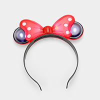LED Lighted Glow Bow Mouse Ear Party Headband