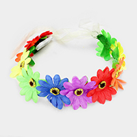 LED Lighted Glow Floral Party Headband