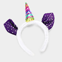 LED Lighted Glow Unicorn Party Headband