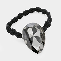 Crystal Teardrop Accented Stretch Hairband