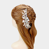 Crystal Leaf Cluster Hair Comb