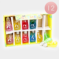 12PCS - Bulb Crystal Slime Kids Toy