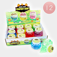12PCS - Pumpkin Crystal Slime Kids Toy