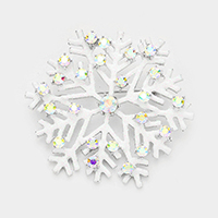 Crystal Snowflake Bling Tiny Sequin Cluster Pin Brooch