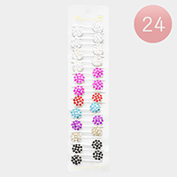 24PCS - Stone Floral Hair Bobby Pins