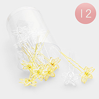 12PCS - Crystal Flower Mini Hair Combs