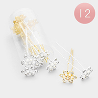 12PCS - Pearl Crystal Flower Mini Hair Combs