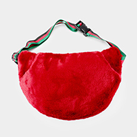 Half Moon Faux Fur Fanny Pack