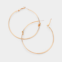 Love Knot Metal Hoop Earrings