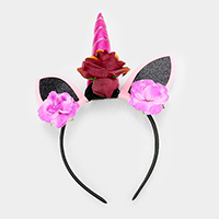 Happy Halloween Unicorn Floral Headband