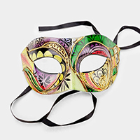 Colorful Halloween Venetian Masquerade Half Mask