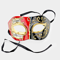 Musical Notes Detail Halloween Venetian Masquerade Half Mask