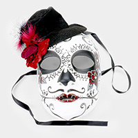 Hat Detail Halloween Venetian Masquerade Full Mask