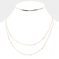 Freshwater Pearl Station Chain Necklace