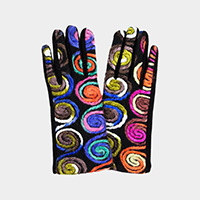 Yarn Embroidery Multi Smart Touch Gloves
