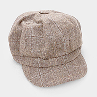 Plaid Check Baker  Boy Hat