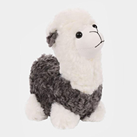 Fluffy Cute Llama Key Chain