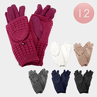 12PCS - Double Layered Knitted Gloves