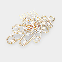 Crystal Bubble Flower Hair Comb