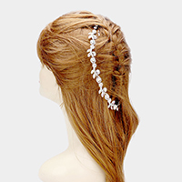 Crystal Floral Vine Bun Wrap Headpiece