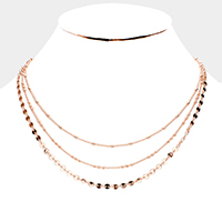 Multi Strand Metal Chain Necklace