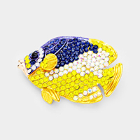 Crystal Tropical  Fish Pin Brooch / Pendant