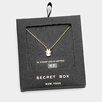 Secret Box _ 14K Gold Dipped Reindeer CZ Necklace