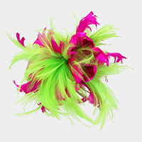 Feather Hair Comb Fascinator