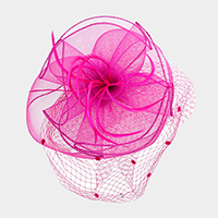 Mesh Netting with Feather Fascinator