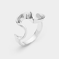 Abstract Wavy Metal Ring