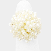 Pearl Cluster Bouquet Stretchable Ring