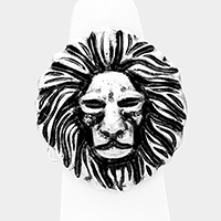 Metal Lion Stretchable Ring