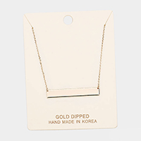 Gold Dipped Plain Bar Necklace