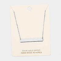 White Gold Plain Bar Necklace
