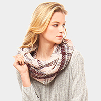 Plaid Check Infinity Scarf