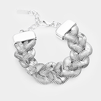 Metal Chain Braided Bracelet
