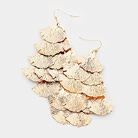 Multi Shell Layered Metal Earrings