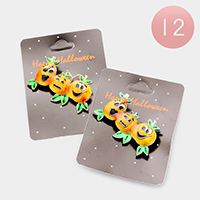 12 PCS Smiling Pumpkin Pin Brooches