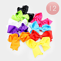 12PCS - Colorful Bow Hair Clips