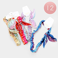 12PCS - Knotted Hologram Stretch Headbands